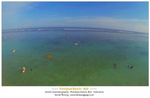 Aerial Pandawa Beach-bali
