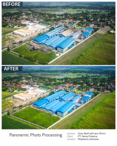 Aerial Photography Processed | Before AfterPT. Hansa Pratama